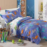Happy Dinosaur Blue Dinosaur Bedding Set