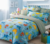 Just For Kids Blue Dinosaur Bedding Set