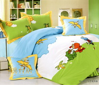 Little Dinosaur Park Army Green Dinosaur Bedding Set