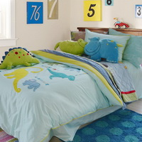 Naughty Dinosaur Sky Blue Dinosaur Bedding Set