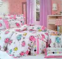 Flying Ladybug White Ladybug Bedding Set