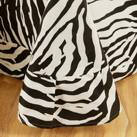 I Love Zebra Blue Zebra Print Bedding Animal Print Bedding Duvet Cover Set