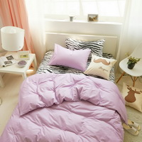 I Love Zebra Light Purple Zebra Print Bedding Animal Print Bedding Duvet Cover Set