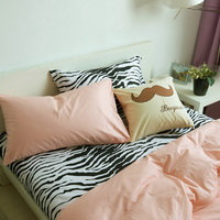 I Love Zebra Nude Zebra Print Bedding Animal Print Bedding Duvet Cover Set