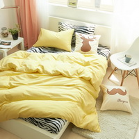 I Love Zebra Yellow Zebra Print Bedding Animal Print Bedding Duvet Cover Set