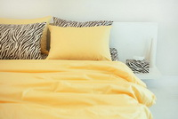Korean Style Bright Yellow Zebra Print Bedding Set