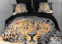Oil Painting Cheetah Print Bedding Sets