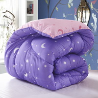 Meteor Garden Purple Comforter Moons And Stars Comforter Down Alternative Comforter