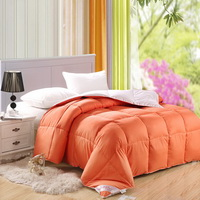 Orange And White Duck Down Comforter