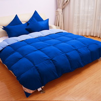 Dark Blue And Light Blue Goose Down Comforter