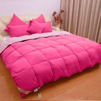 Deep Pink And Light Pink Goose Down Comforter