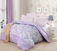 Enjoy Flowers Purple Comforter