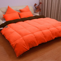 Orange And Mocha Goose Down Comforter