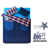 Jeans Blue Modern Bedding Cool Duvet Cover Set