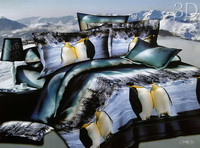 Penguin Duvet Cover Set 3D Bedding