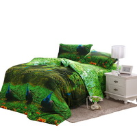 Blue Peacock Bedding 3D Duvet Cover Set