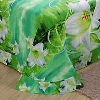 Lily Green Bedding 3D Duvet Cover Set