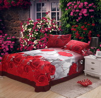 Roses Love Song Bedding 3D Duvet Cover Set