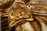 Powerful Tiger Yellow Bedding 3d Duvet Cover Set
