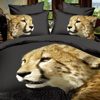 Cheetah Black Bedding 3D Duvet Cover Set