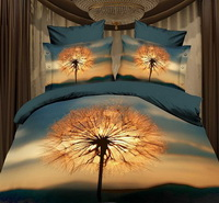 Dandelion Brown Bedding 3D Duvet Cover Set
