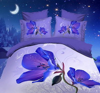 Lily Purple Bedding 3D Duvet Cover Set