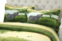 Zebra Green Bedding 3D Duvet Cover Set