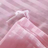 Beautiful Stripes Pink Silk Bedding Modern Bedding