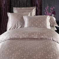 Colorful Imagination Coffee Jacquard Damask Luxury Bedding