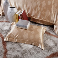 Glory Of Life Golden Jacquard Damask Luxury Bedding