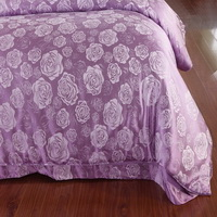 Helena Purple Jacquard Damask Luxury Bedding