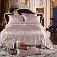 Love In A Fallen City Fleshcolor Jacquard Damask Luxury Bedding