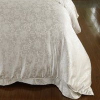 Summer Romance White Jacquard Damask Luxury Bedding