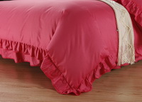 Brick Red Girls Bedding Princess Bedding Modern Bedding