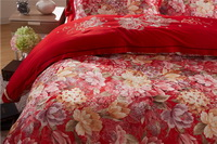 Brussels Scarlet Flowers Bedding Luxury Bedding