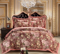 Lori Love Light Red Flowers Bedding Luxury Bedding