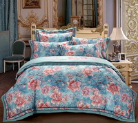 Sweet Smelling Lake Blue Flowers Bedding Luxury Bedding