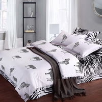 Love Zebra Print Black And White Bedding Classic Bedding