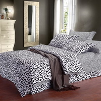 Martha Cheetah Print Black And White Bedding Classic Bedding