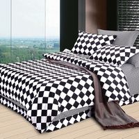 Ronnie Skew Lattices Black And White Bedding Classic Bedding