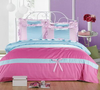 Dots Sky Blue And Pink Princess Bedding Teen Bedding Girls Bedding