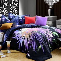 Chrysanthemum The Butterfly Purple 3d Bedding Luxury Bedding