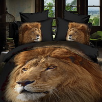 King Of Lions Black 3d Bedding Luxury Bedding