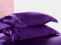 Pure Enjoyment Dark Violet Silk Bedding Silk Duvet Cover Set
