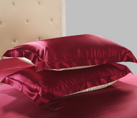 Two Tone Wine And Champagne Silk Bedding Silk Duvet Cover Set
