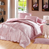 Amorous Feelings Pink Silk Duvet Cover Set Silk Bedding