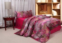 The Poenix Tail Rose Silk Duvet Cover Set Silk Bedding