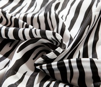 Zebra Print White Silk Duvet Cover Set Silk Bedding