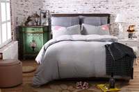 Love Gray Knitted Cotton Bedding 2014 Modern Bedding
