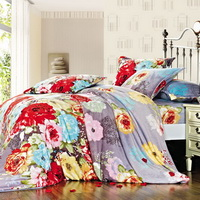 Carpet Of Flowers Winter Duvet Cover Set Flannel Bedding